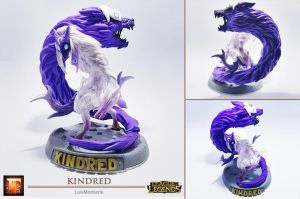League of Legends - Kindred _ Sculpt This Again by LuisMonterieArt