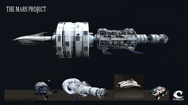 The Mars Project-Spaceship by MASCH-ART