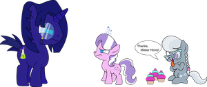 REQUEST: Hovis, Diamond Tiara, and Silver Spoon by iDeltaVelocity