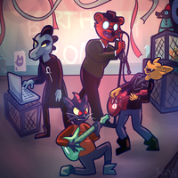 Band Practice- Night in the Woods by FluffytheSpider