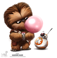 Daily Painting 1701# Chewie Gum by Cryptid-Creations