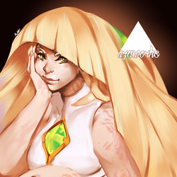 Lusamine   Commission. by Azubelle