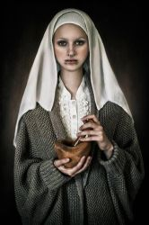 Portrait of a girl by hellwoman