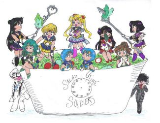 the NEW Salad Time Soldiers by TokuTenshi