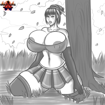 Busty Asian by DemonRoyal