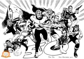 British Childhood Comic book Heroes by Johnny-Retro65