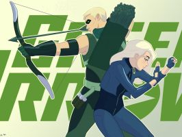 Green Arrow and Black Canary by Mro16