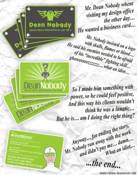 Nobody business card by 7grims