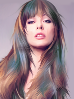 Milla Jovovich Painting by perlaque