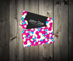 Colorful Vibrant Business Card by An1ken