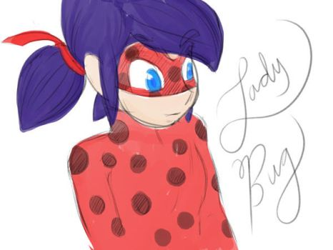 Miraculous lady bug fanart by byDaliaPamela