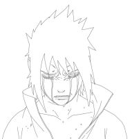 Lineart - Sasuke Cry by ZulDzin