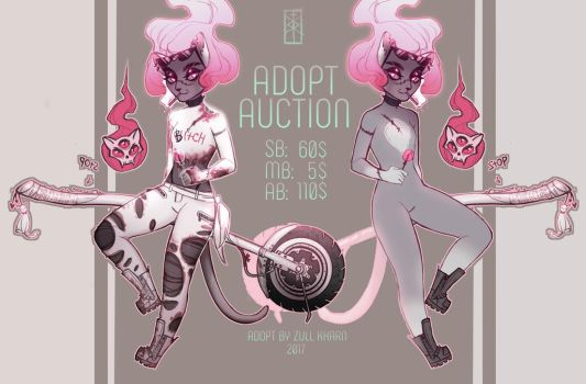 ADOPT AUCTION - bold biker witch (OPEN) by Zull-yan