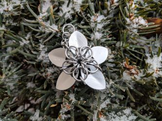 Scalemail Flower - Ornament by demuredemeanor
