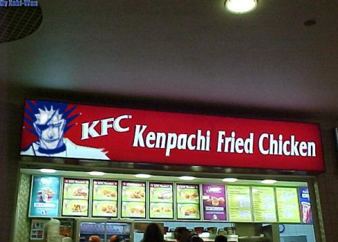 Kenpachi Fried Chicken XD by kanashiineko-chan
