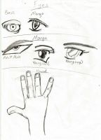 Manga Hands And Eye Practice by DeverexDrawer