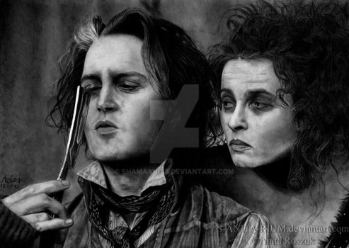 Sweeney Todd n' Mrs. Lovett by Red-Szajn