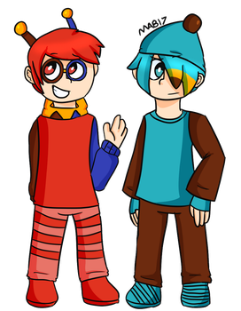 Human Redo and Bluee Grene by MixelsAngryBirds17