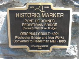 Pont De Rennes Pedestrian Bridge Marker by Android-shooter