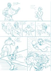 Boxing Comic Page 1 by The-Muscle-Girl-Fan