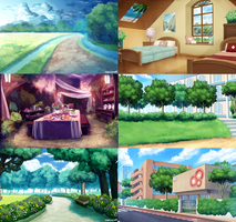 Visual Novel Backgrounds by Konett