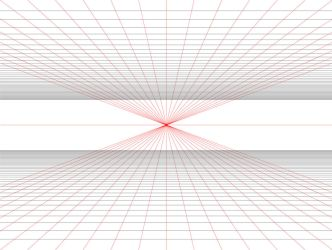 Practical 1 Point Perspective Grid Template by betsyillustration