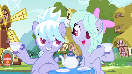Two best friends having tea together! by Thunder-Artist