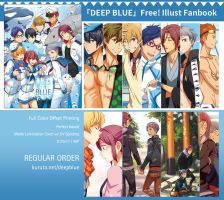Deep Blue Free! Illustration fanbook regular order by gem2niki
