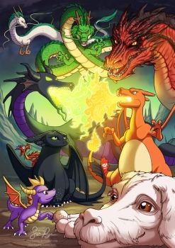 Dragons by Risachantag