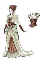 Steampunk Wedding Dress Revamp by daestwen