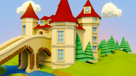 Low Poly Castle by Perlin18