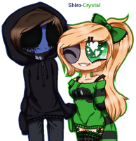 -[Art trade] Holding hands~ (for fnafnexus) - by Shiro-Crystal