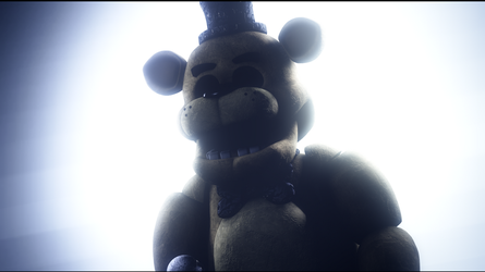 Golden Freddy - Glowing by TheSitciXD