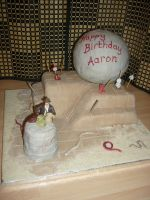 Indiana Jones Cake by mike-a