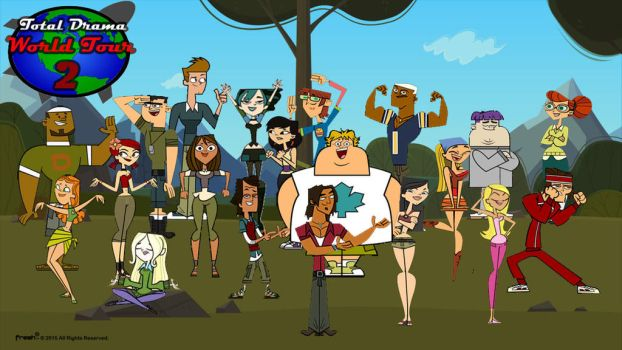 Total Drama World Tour 2 Title Card by SilverthehedgehogMan