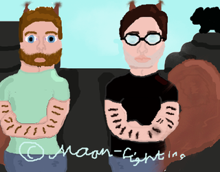 Rhett and Link: The Year Old Drawing Attempt by Moon-Light100