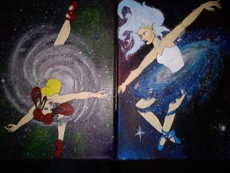 Andromeda and Milky way WIP by kalitheclown