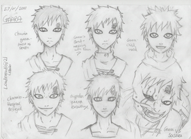 Gaara doodles by LoudMouth321