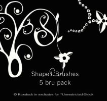 Flower-Curl Shaped Brushes by Unrestricted-Stock