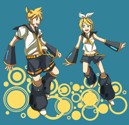 Len and Rin by mag-ni