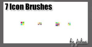 7 Icon Brushes by thexunknown