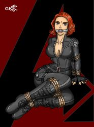 Cartoony Scarlett Widow by geekling