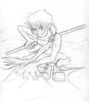 Girl With Staff - Rough by servack