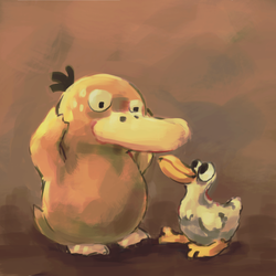 Psyduck and Mad Duck by wandmeister