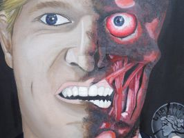 Harvey Dent/Two Face close up by Cassieprouse