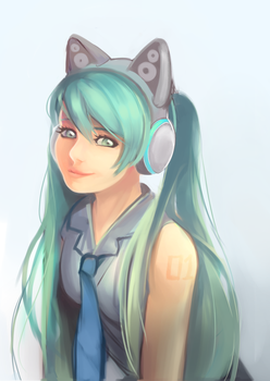 Miku by rosuroid