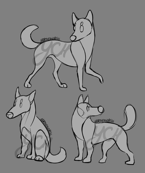 [CLOSED YCH] - Chibi Doggies by NorthernUrsus
