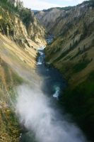 Yellowstone River Falls lower below falls by swashbuckler