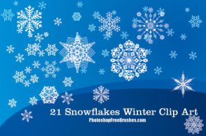 21 Winter Clip Art PS Brushes by fiftyfivepixels