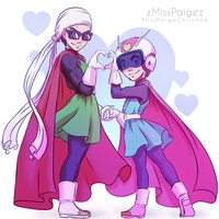 Saiyaman and Saiyawoman! by MissPaigeChristine